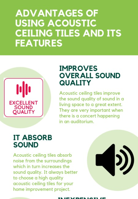 Advantages of using acoustic ceiling tiles and its features
