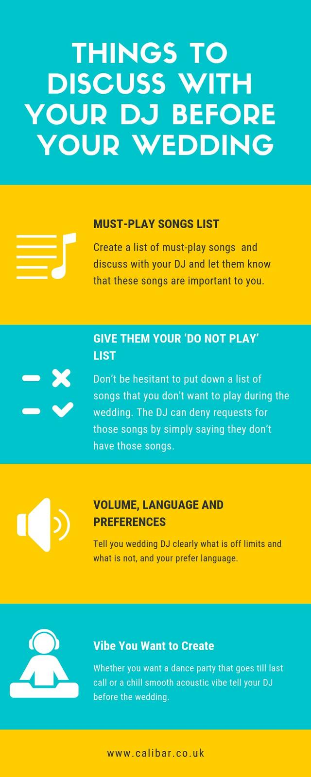 Things to discuss with your dj before your wedding