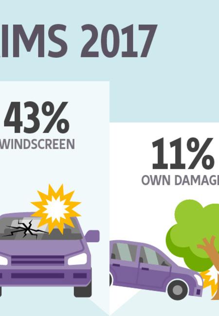Ai car claims infographic landscape