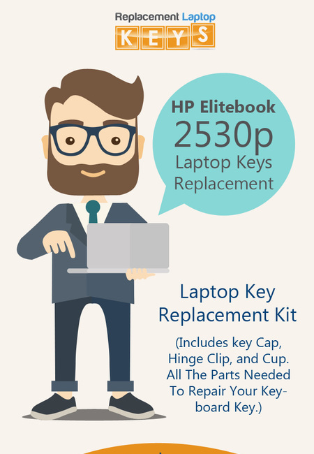 Buy genuine hp elitebook 2530p laptop keys online from replacement laptop keys