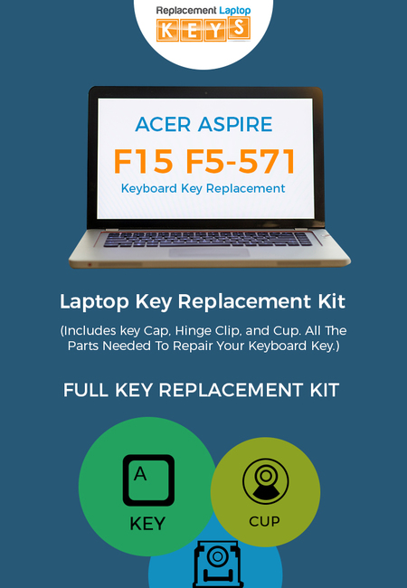 Shop acer aspire f5 571 keyboard keys from replacement laptop keys
