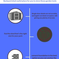 Shed options for a small backyard