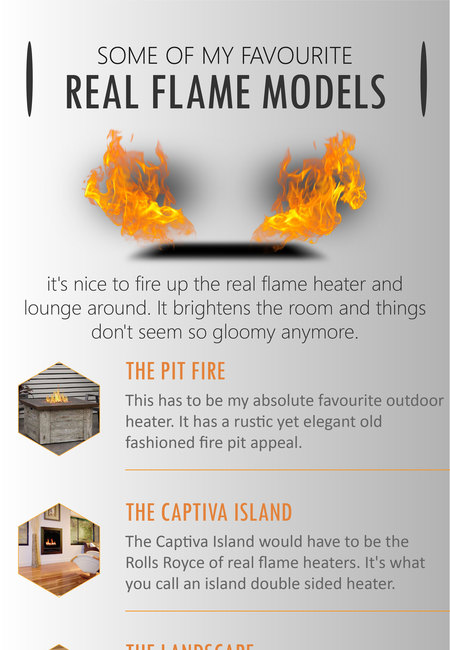 Some favourite real flame models