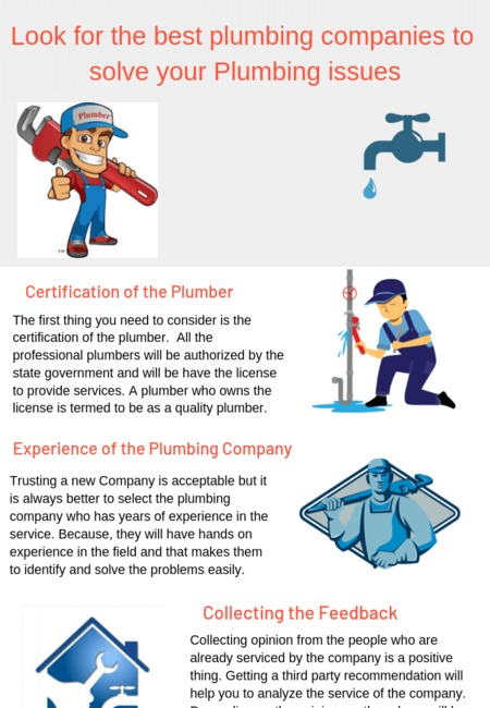 Look for the best plumbing companies to solve your plumbing issues