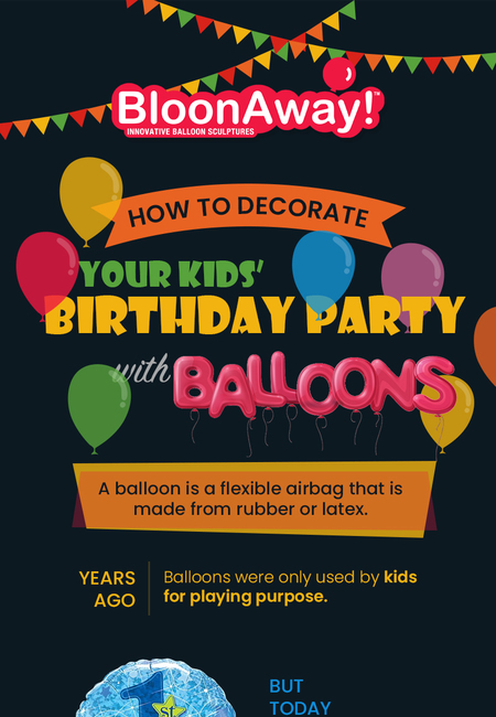 How to decorate your kids%e2%80%99 birthday party with balloons