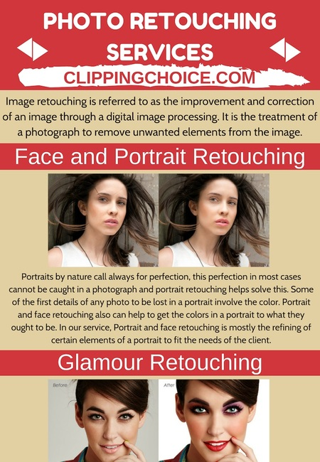The different type of photo retouching services