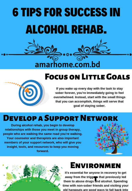 6 tips for success in alcohol rehab.