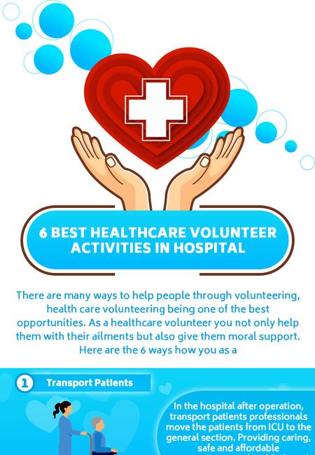 6 best healthcare volunteer activities in hospital