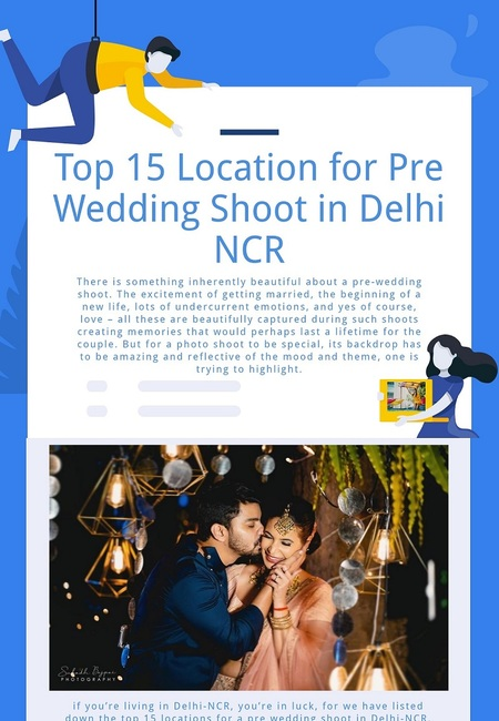 Top 15 location for pre wedding shoot in delhi ncr