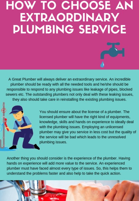 How to choose an extraordinary plumbing service