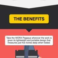 Worx pegasus work table infographic