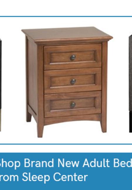 Shop brand new adult bedroom nightstands from sleep center