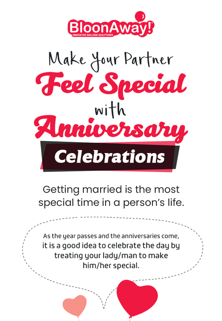 Make your partner feel special with anniversary celebrations