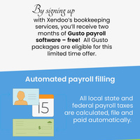 Choose xendoo for automated payroll filing services for small businesses