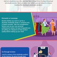 3 tips for choosing a reliable boutique wholesale vendor