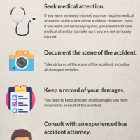 Steps to take immediately after bus accident