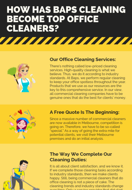 How has baps cleaning become top office cleaners