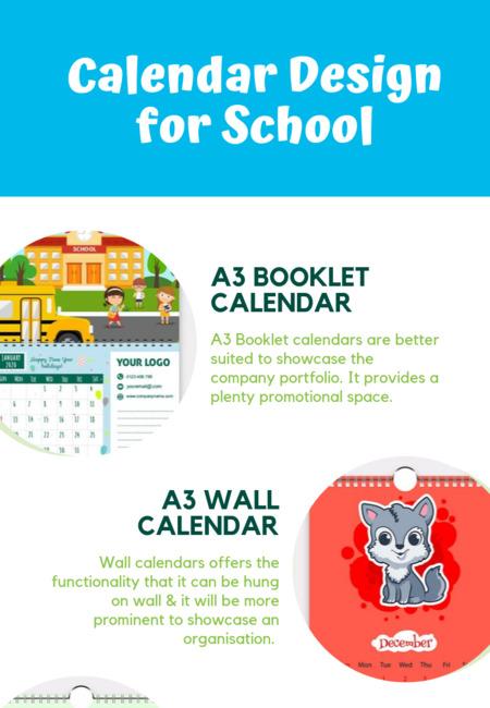 Calendar design for school