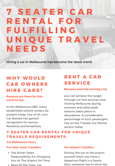 7 seater car rental for fulfilling unique travel needs