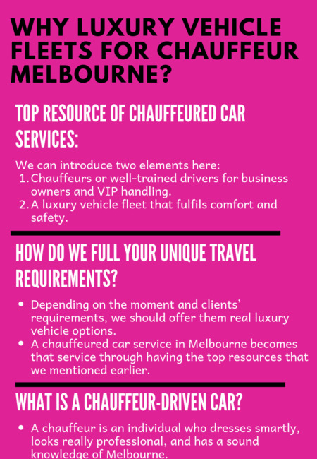 Why luxury vehicle fleets for chauffeur melbourne  (1)