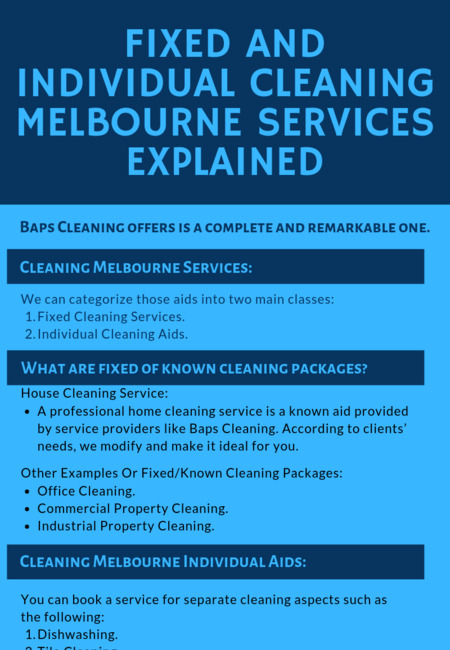 Fixed and individual cleaning melbourne services explained