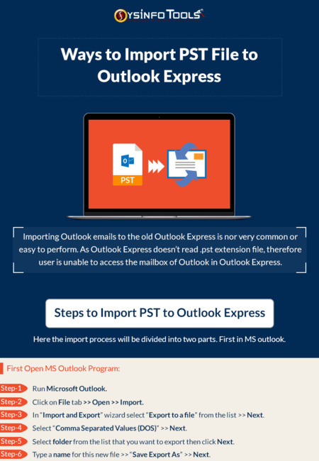 Import pst file to outlook express