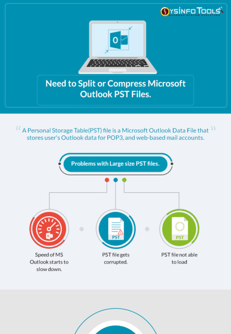 Need to split or compress microsoft outlook pst files