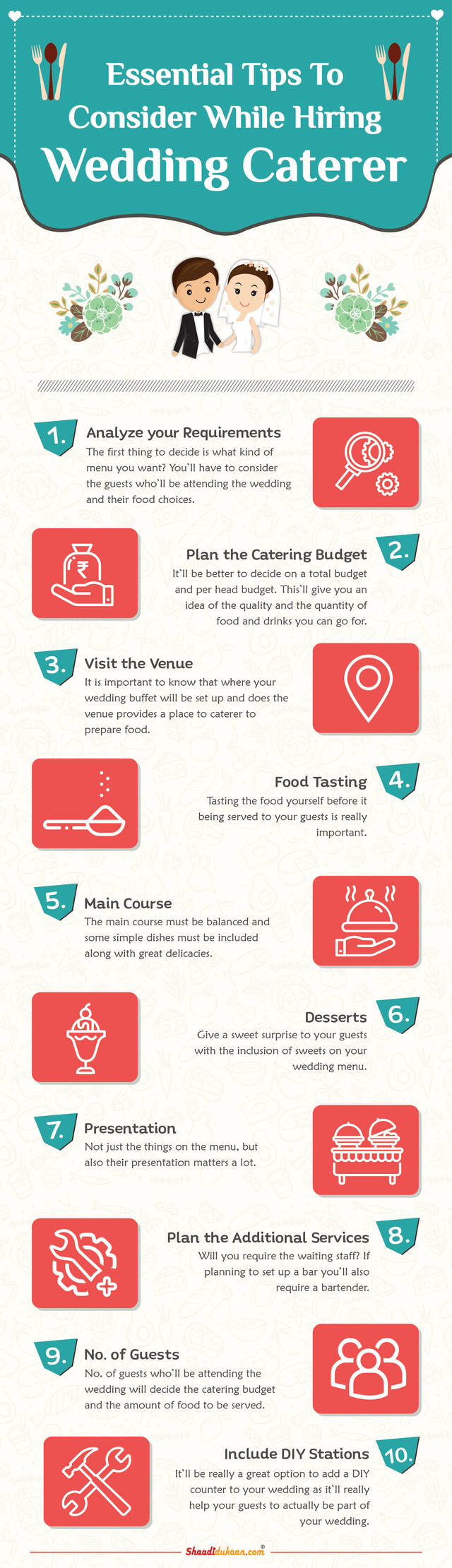 Catering infographic 3