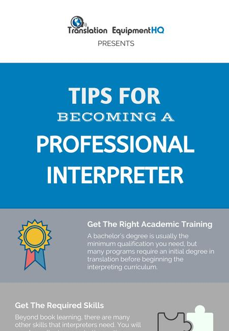 Tips for becoming a professional interpreter