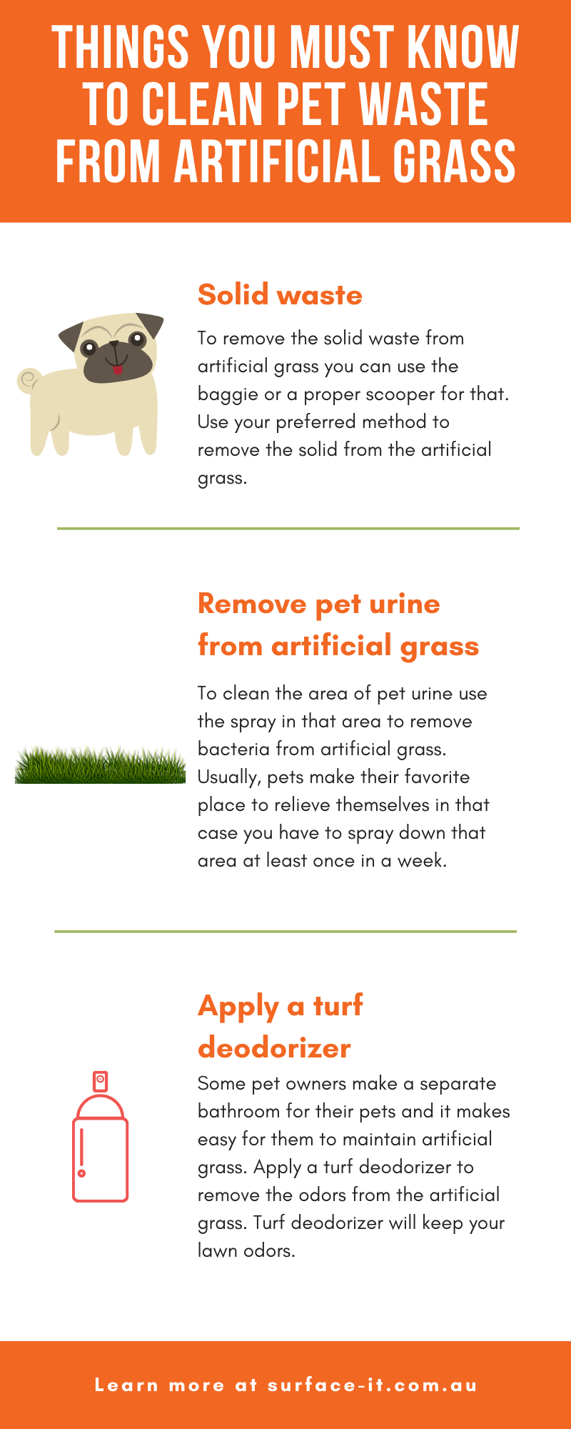 Things you must know toclean pet waste from artificial grass
