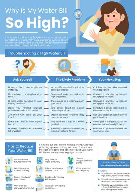 Why is my water bill so high  infographic