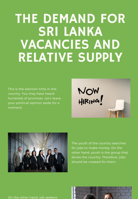 The demand for sri lanka vacancies and relative supply