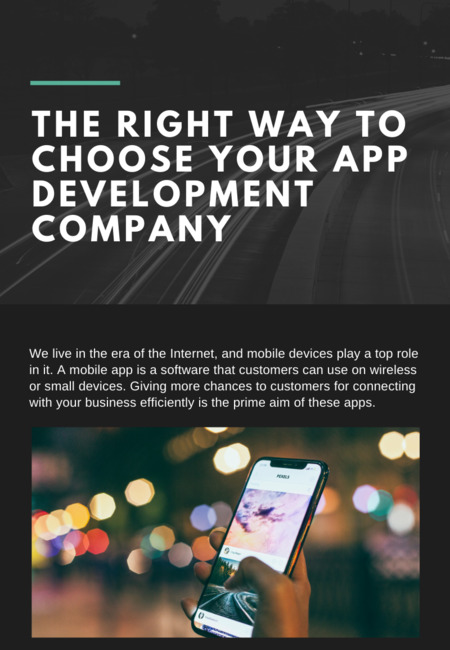 The right way to choose your app development company