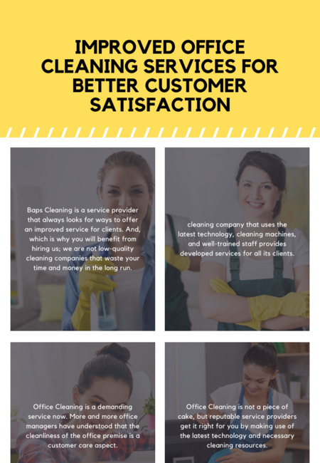 Improved office cleaning services for better customer satisfaction