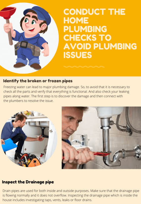 Conduct the home plumbing checks to avoid plumbing issues