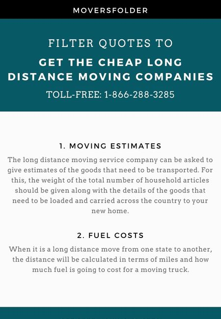 Cheap long distance moving companies