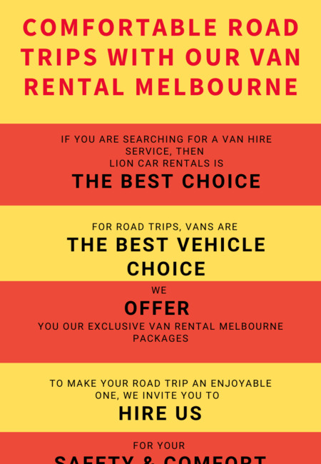 Comfortable road trips with our van rental melbourne