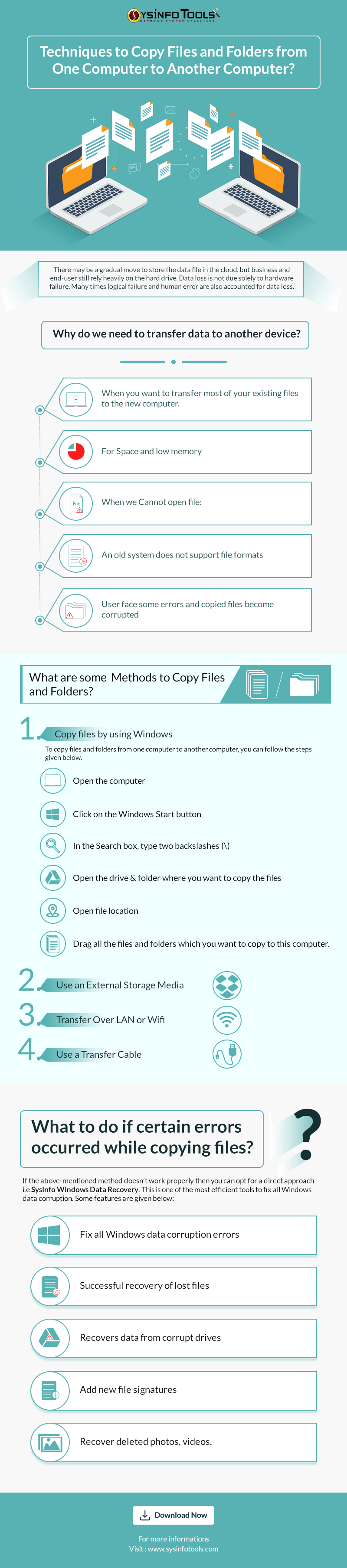 Methods to Copy Files and Folders from One Computer to Another Computer.