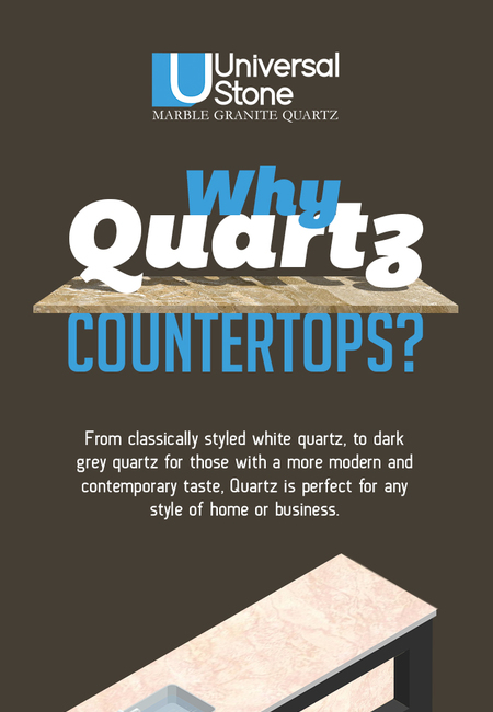 Discover beautifully designed quartz countertops from universal stone
