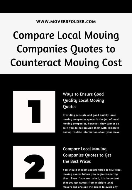 Local moving companies quotes