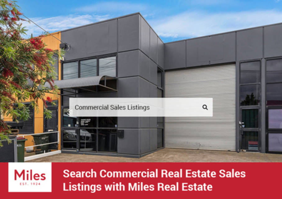Search commercial real estate sales listings with miles real estate