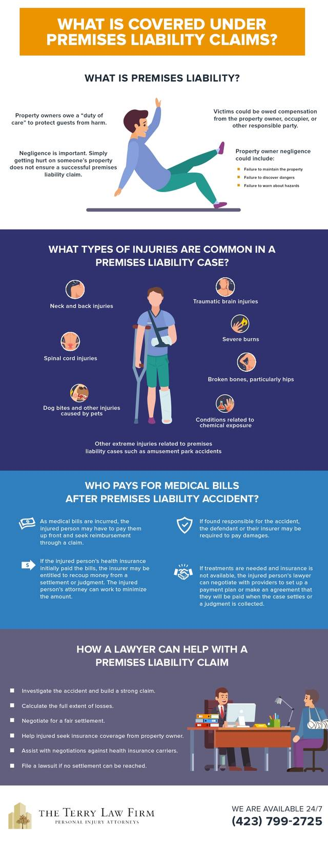 Terrylaw types injuries liability case infographic