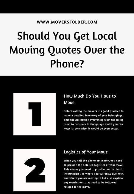 Local moving quotes