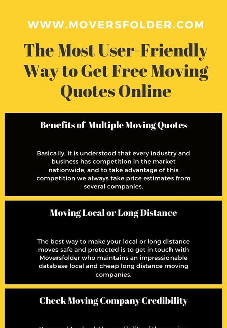 Get free moving quotes online