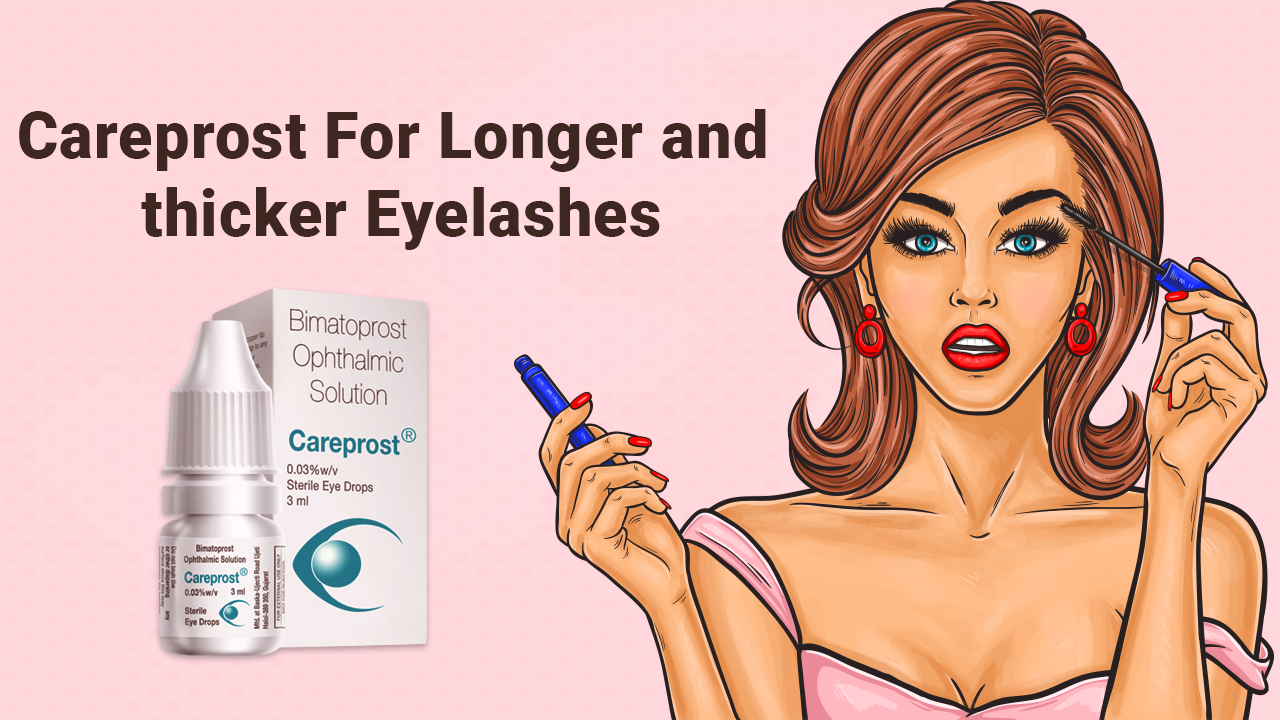 Careprost For Longer and thicker Eyelashes