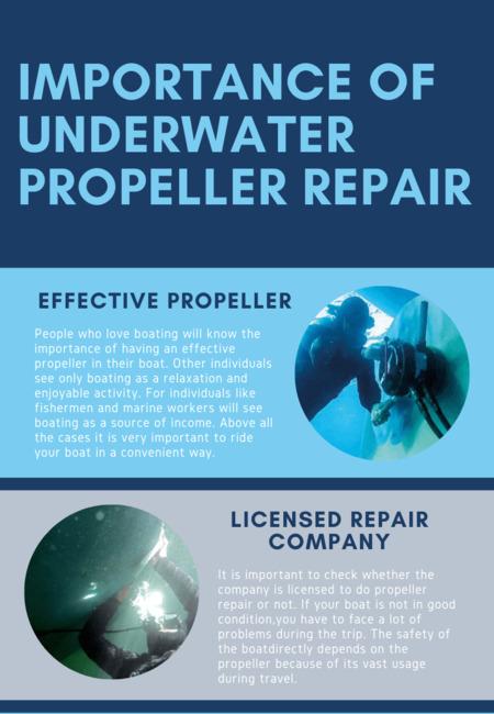 Importance of underwater propeller repair