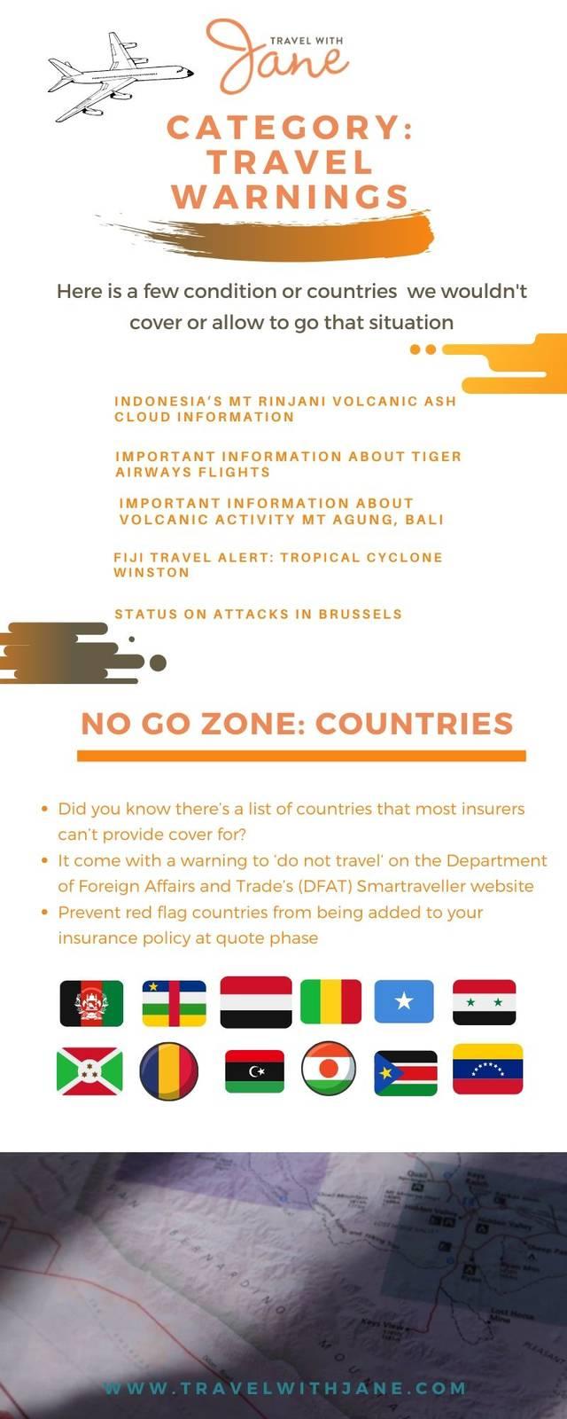 No go zone area