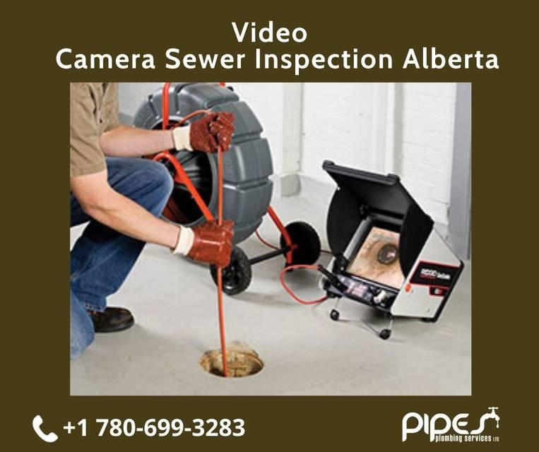 Video camera sewer inspection alberta