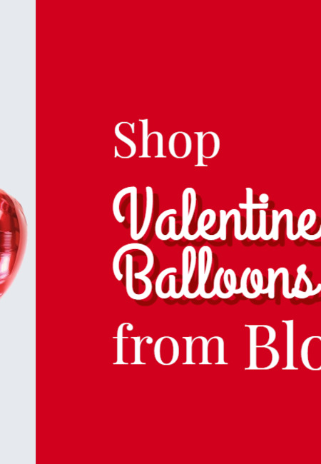 Shop valentine helium balloons online from bloonaway