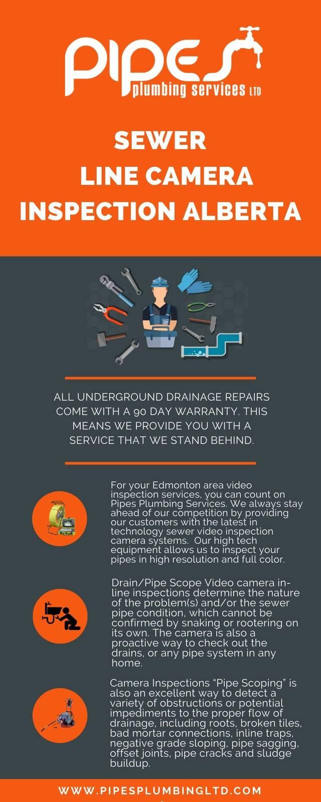 Sewer line camera inspection alberta